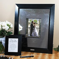etched signature frame